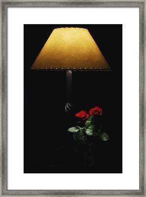 Roses By Lamplight Framed Print by Ron White