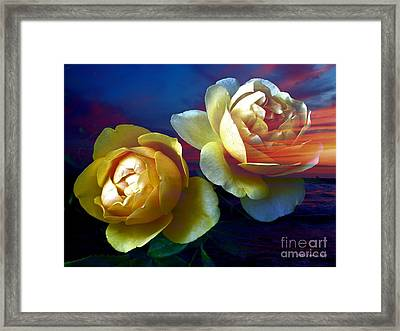 Roses By The Sea Framed Print