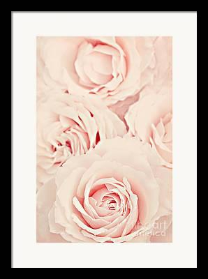 Pink Blossoms Digital Art Framed Prints