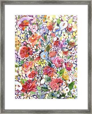 Roses Do Ramble Framed Print