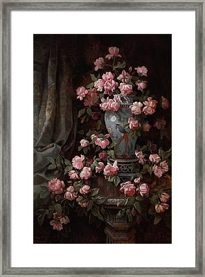 Roses Framed Print by Edwin Deakin
