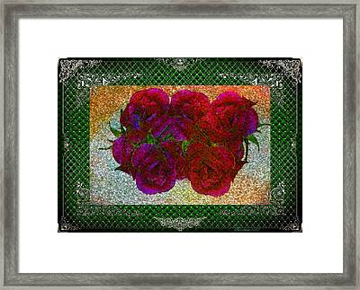 Roses- Featured In Beautiful Roses And Comfortable Art Groups Framed Print by EricaMaxine  Price