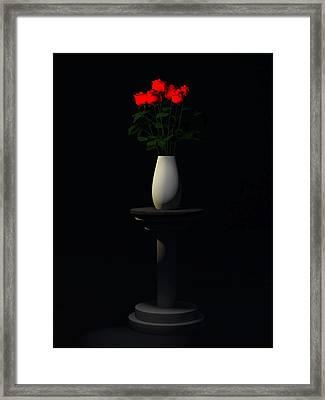 Framed Print featuring the digital art Roses For Sk... by Tim Fillingim
