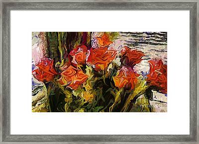 Roses For Vincent Framed Print by Dorinda K Skains