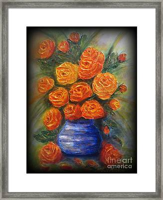 Roses For You Framed Print by Elena  Constantinescu