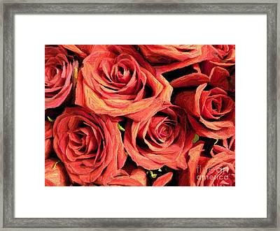 Roses For Your Wall  Framed Print