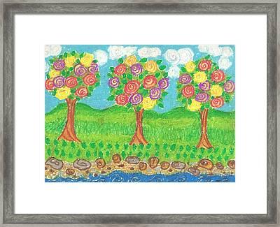 Roses Garden Framed Print