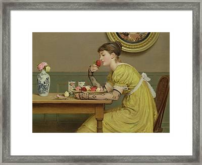 Roses Framed Print by George Dunlop Leslie
