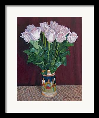 Checked Tablecloths Drawings Framed Prints