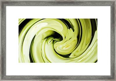 Roses In Lime Framed Print by Sharon Lisa Clarke