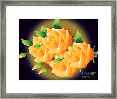 Roses In Sunset Framed Print by Gayle Price Thomas