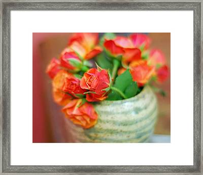 Framed Print featuring the photograph Roses by Lisa Phillips