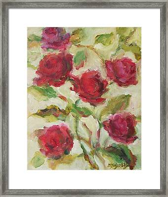 Roses Framed Print by Mary Wolf