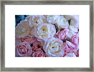 Roses On The Veranda Framed Print by Carol Groenen