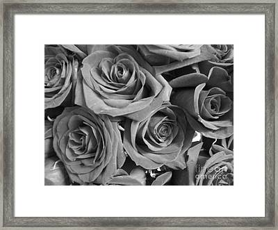 Framed Print featuring the photograph Roses On Your Wall Black And White  by Joseph Baril