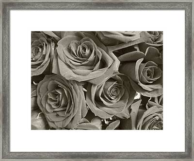 Framed Print featuring the photograph Roses On Your Wall Sepia by Joseph Baril