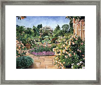 Roses Orange Framed Print by David Lloyd Glover