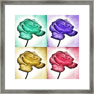 Roses - Pop Art Framed Print by Marianna Mills