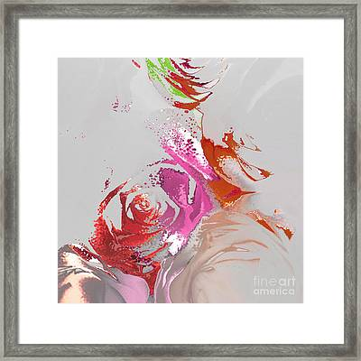 Roses Framed Print by Soumya Bouchachi