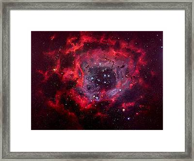 Rosetta Nebula Framed Print by Marie Green