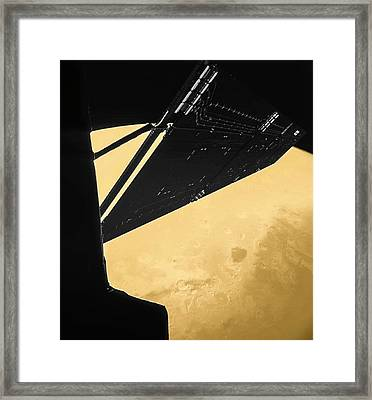 Rosetta Over Mars Framed Print