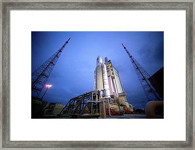 Rosetta Spacecraft Launch Framed Print by Esa/cnes/arianespace - S. Corvaja