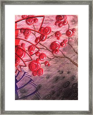 Rosettes In Abstract Framed Print by Noah Babcock