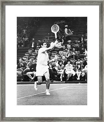 Rosewall Playing Tennis Framed Print by Underwood Archives