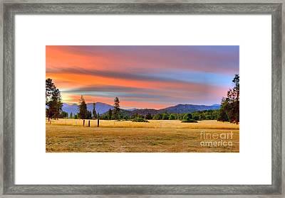 Rosey Dawn Framed Print