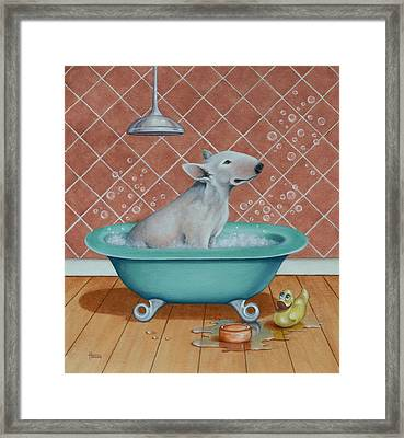 Rosie In The Bliss Bubbles Framed Print by Cynthia House