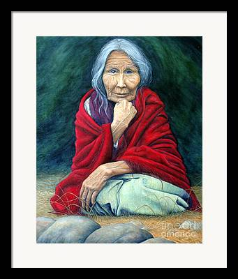 Woman Remembering Framed Prints