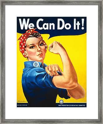 Rosie The Riveter Framed Print