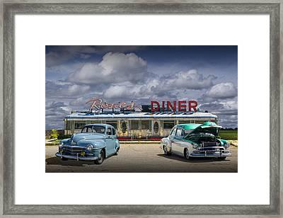 Rosie's Diner Framed Print by Randall Nyhof