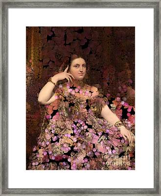 Rosita - Des Femmes Et Des Fleurs Framed Print