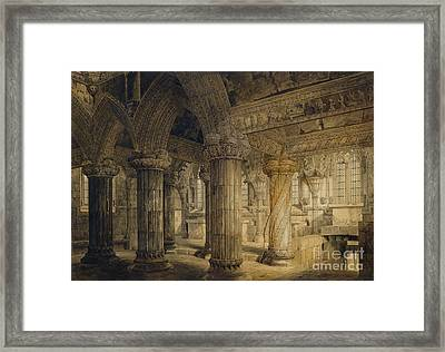 Roslyn Chapel Framed Print by Joseph Michael Gandy