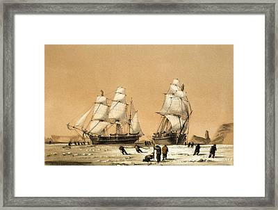Ross Arctic Search Expedition, 1848-9 Framed Print by Science Photo Library