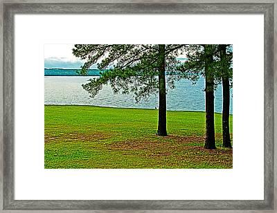 Ross Barnett Reservoir Along Natchez Trace Parkway-mississippi  Framed Print by Ruth Hager