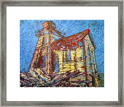 Ross Island Lighthouse Framed Print