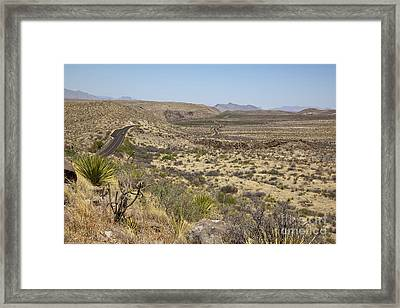 Ross Maxwell Scenic Drive Framed Print