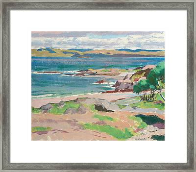 Ross Of Mull From Traigh Mhor Framed Print by Francis Campbell Boileau Cadell