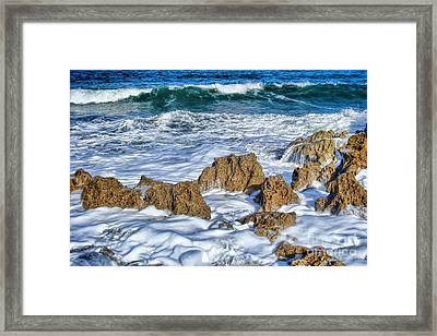 Framed Print featuring the photograph Ross Witham Beach Stuart Florida by Olga Hamilton