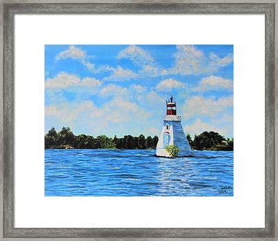Rosseau Lighthouse Framed Print
