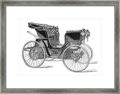 Rossel Petrol Car, 1897 Framed Print by Science Photo Library