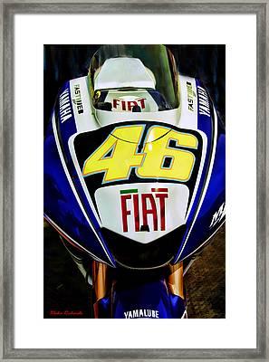 Rossi Yamaha Framed Print
