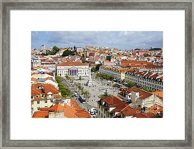 Rossio Square Framed Print by Carlos Caetano