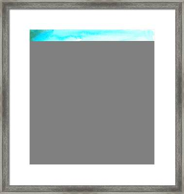 Rosso Nel Blue Framed Print by Marcello Cicchini