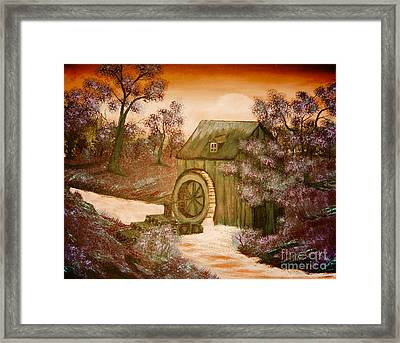 Ross's Watermill Framed Print by Barbara Griffin