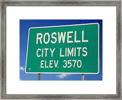 Framed Print featuring the photograph Roswell New Mexico by Bob Pardue
