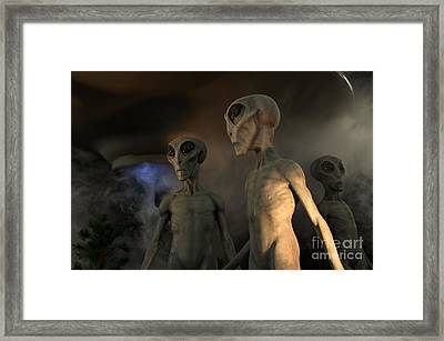 Roswell New Mexico Visiting Hour  Framed Print by Bob Christopher