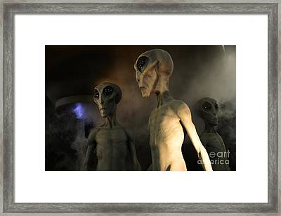 Roswell Visiting Hour Framed Print by Bob Christopher